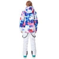 Белый горнолыжный костюм женский WE019
