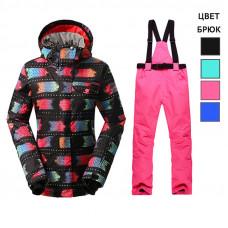 Костюм для катания на лыжах женский WE016-1 черный