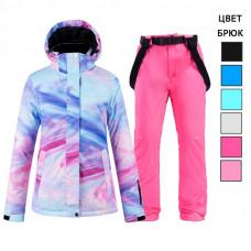 Женский костюм для горных лыж WE013 голубой