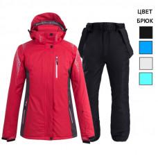 Горнолыжный костюм женский WE012-2 красный