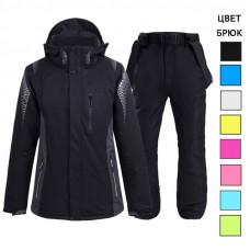 Спортивный лыжный костюм женский WE012 черный