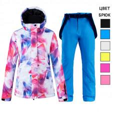 Женский лыжный костюм WE011 розовый