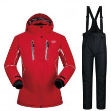 Женский горнолыжный костюм WE-004 красный