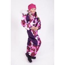 Горнолыжный комбинезон для девочки розовый камуфляж E000941-14