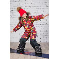 Детский камуфляжный горнолыжный комбинезон E00146-11